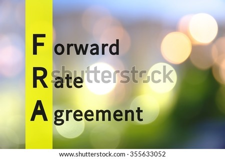 Acronym Fra Forward Rate Agreement Stock Illustration 355633052