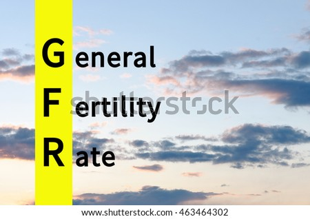 Acronym GFR as General fertility rate