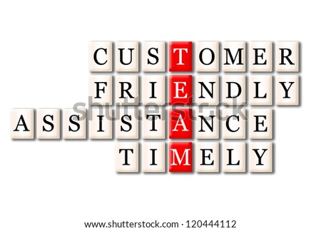 Acronym of Team - customer friendlyservice,timely - stock photo
