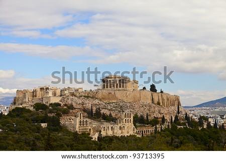 acropolis and parthenon ,Athens,Greece - stock photo