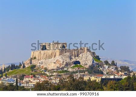 Acropolis and Parthenon , Athens,Greece - stock photo