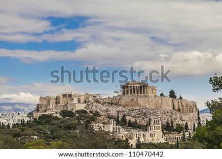 Acropolis in Greece - stock photo