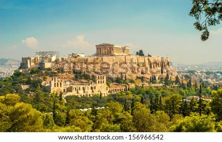Acropolis of Athens - stock photo