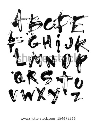 Acrylic Alphabet 1 - stock photo
