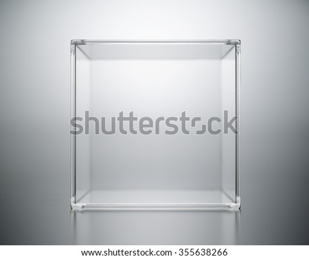 acrylic box abstract. - stock photo