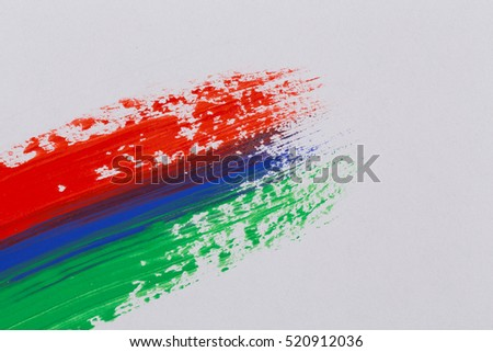 Acrylic paint colorful brush strokes. Rainbow brush strokes collection