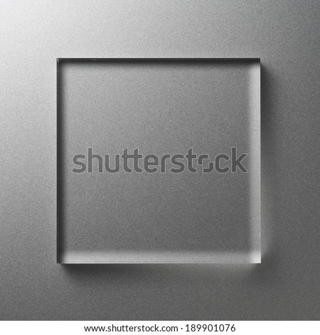 acrylic plate - stock photo
