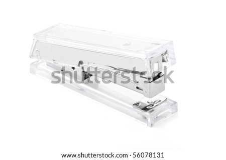Acrylic stapler on white background