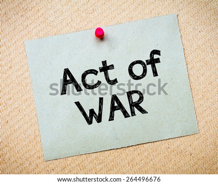 concept essay on war