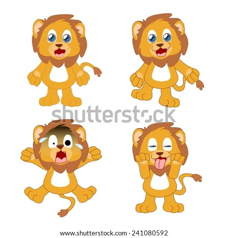 Action and expression of Lion - stock photo