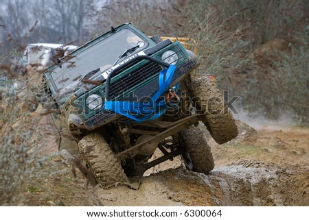 Action during off road driving - stock photo