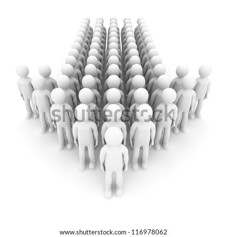 Active business people. Concept. 3d illustration. - stock photo