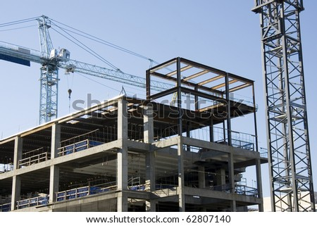 Active construction site - stock photo