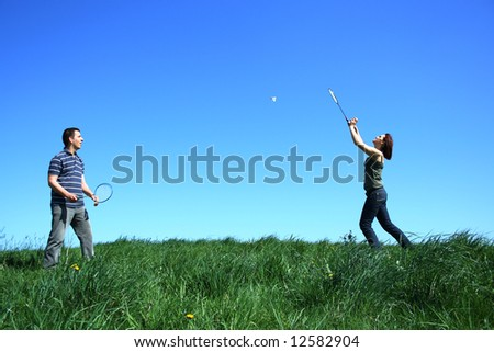 Active couple - stock photo