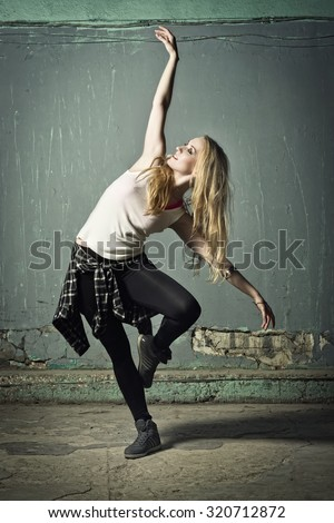 Active female enjoying aerobics zumba fitness 