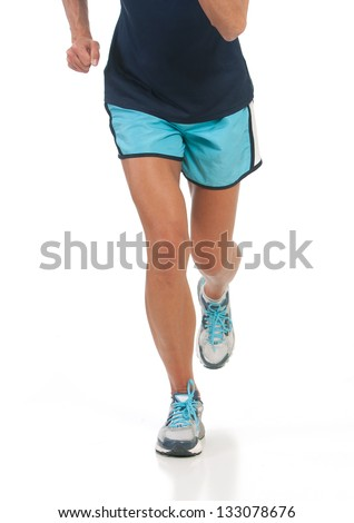 Active female runner jogging to stay in good health - stock photo