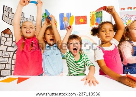 Active kids in the kindergarten class