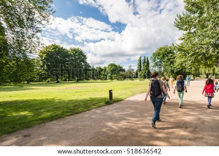 alster lake hamburg germany on summer stock photo