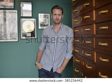 Actor Alexander Skarsgard attended 15th Istanbul Independent Film Festival in Istanbul, Turkey, 12 February 2016 - stock photo