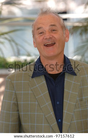Actor BILL MURRAY at the 58th Annual Film Festival de Cannes to promote his movie Broken Flowers. May 17, 2005 Cannes, France.  2005 Paul Smith / Featureflash - stock photo