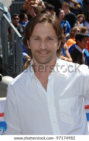 Actor BRECKIN MEYER at the the world premiere, on Hollywood Boulevard, of his new movie Walt Disney Pictures' Herbie: Fully Loaded. June 19, 2005 Los Angeles, CA  2005 Paul Smith / Featureflash - stock photo