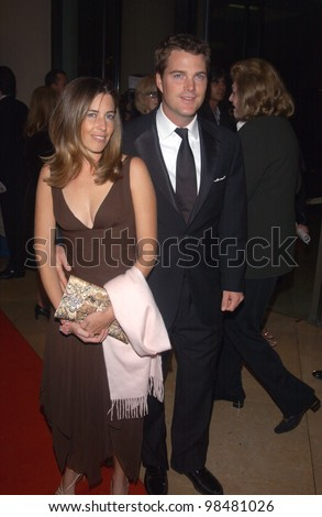 Actor CHRIS O'DONNELL & wife at the 18th Annual American Cinematheque Gala honoring Nicole Kidman. November 14, 2003  Paul Smith / Featureflash