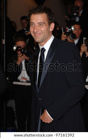 Actor CLIVE OWEN at the gala screening of his movie Sin City at the 58th Annual Film Festival de Cannes. May 18, 2005 Cannes, France.  2005 Paul Smith / Featureflash