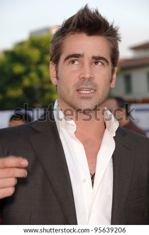 "Actor COLIN FARRELL at the world premiere, in Los Angeles, of his new movie ""Miami Vice."" July 20, 2006  Los Angeles, CA  2006 Paul Smith / Featureflash"