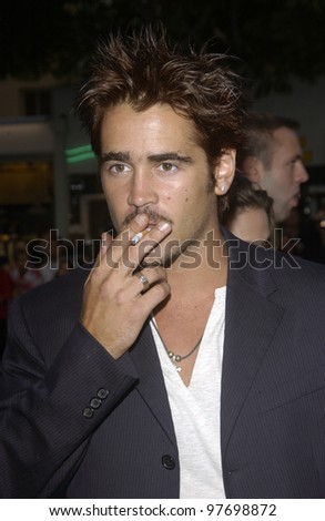 Actor COLIN FARRELL at the world premiere, in Los Angeles, of his new movie S.W.A.T. July 30, 2003  Paul Smith / Featureflash