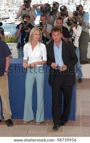 Actor/director SEAN PENN & actress wife ROBIN WRIGHT PENN at the Cannes Film Festival where their movie The Pledge is in competition. 15MAY2001.   Paul Smith/Featureflash