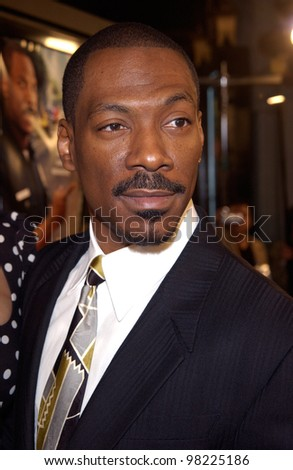 Actor EDDIE MURPHY at the world premiere, in Hollywood, of his new movie Showtime. 11MAR2002.   Paul Smith / Featureflash - stock photo