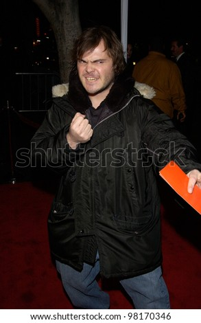 Actor JACK BLACK at the Hollywood premiere of Slackers. 29JAN2002   Paul Smith/Featureflash