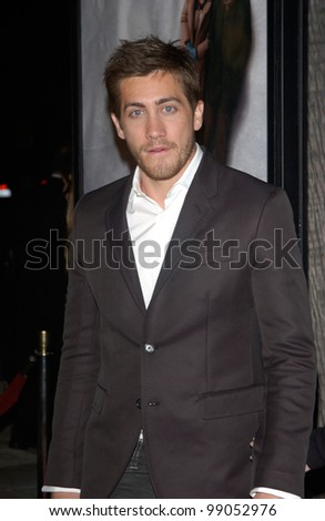 Actor JAKE GYLLENHAAL at the world premiere of Eternal Sunshine of the Spotless Mind, in Beverly Hills, CA. March 9, 2004