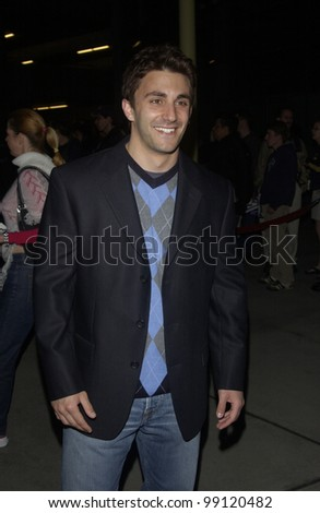 Actor JASON CERBONE at the world premiere of his new movie Shade, in Hollywood. April 6, 2004