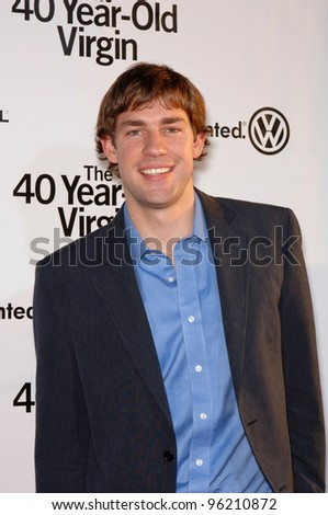 Actor JOHN KRASINSKI at the world premiere of 40 Year-Old Virgin, at the Arclight Theatre, Hollywood. August 11, 2005  Los Angeles, CA  2005 Paul Smith / Featureflash
