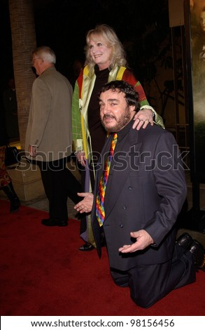 Actor JOHN RHYS-DAVIES & wife at the Los Angeles premiere of his new movie The Lord of the Rings: The Fellowship of the Ring. 16DEC2001  Paul Smith/Featureflash