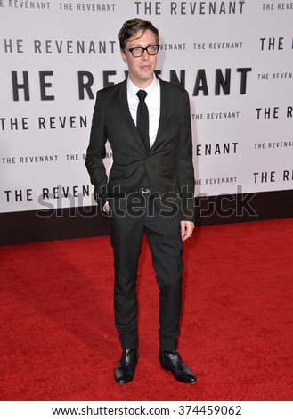 "Actor Joshua Burge at the Los Angeles premiere of his movie ""The Revenant"" at the TCL Chinese Theatre, Hollywood. 
