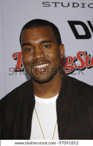 Actor KANYE WEST at the Los Angeles premiere of Sin City. March 28, 2005 Los Angeles, CA.  2005 Paul Smith / Featureflash - stock photo
