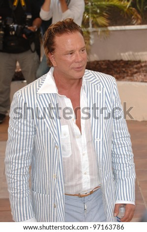 Actor MICKEY ROURKE at the 58th Annual Film Festival de Cannes to promote his movie Sin City. May 18, 2005 Cannes, France.  2005 Paul Smith / Featureflash - stock photo