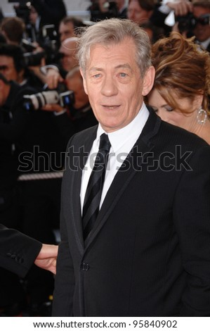 "Actor SIR IAN McKELLEN at the gala screening of ""The Da Vinci Code"" at the 59th Annual International Film Festival de Cannes. May 17, 2006  Cannes, France.  2006 Paul Smith / Featureflash - stock photo"