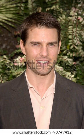 Actor TOM CRUISE at Premiere Magazine's Women in Hollywood luncheon at the Four Seasons Hotel, Beverly Hills.   22OCT2001.   Paul Smith/Featureflash - stock photo
