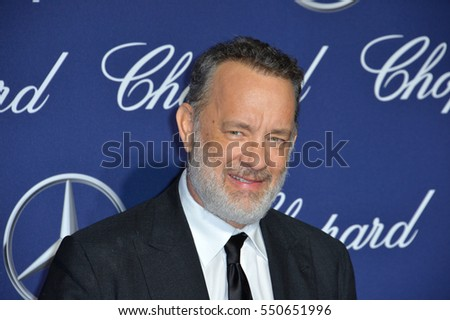 Actor Tom Hanks at the 2017 Palm Springs Film Festival Awards Gala. January 2, 2017
