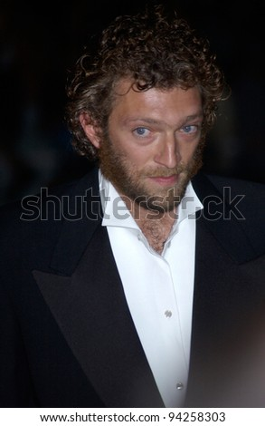 Actor VINCENT CASSEL at the Cannes Film Festival for the world premiere of his movie Irreversible. 24MAY2002.   Paul Smith / Featureflash