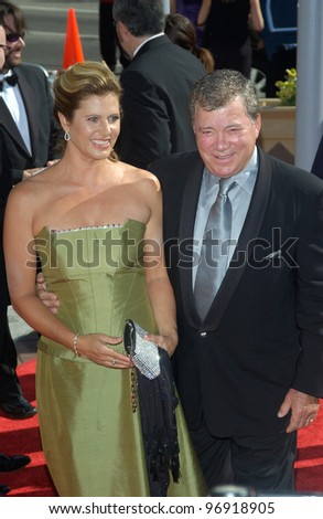 Actor WILLIAM SHATNER & wife ELIZABETH at the 2004 Primetime Creative Arts Emmy Awards at the Shrine Auditorium, Los Angeles. September 12, 2004