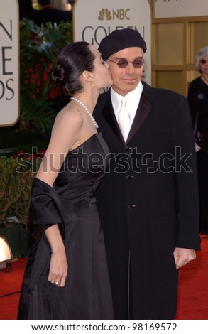 Actress ANGELINA JOLIE & actor husband BILLY BOB THORNTON at the 59th Annual Golden Globe Awards in Beverly Hills. 20JAN2002  Paul Smith/Featureflash - stock photo