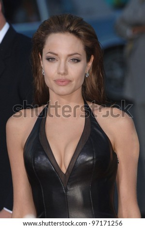 Actress ANGELINA JOLIE at the world premiere of her new movie Mr & Mrs Smith. June 7, 2005 Los Angeles, CA.  2005 Paul Smith / Featureflash - stock photo
