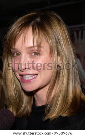 Actress CALISTA FLOCKHART at Premiere Magazine's 7th Annual Women in Hollywood Luncheon at the Four Seasons Hotel, Beverly Hills. 11OCT2000.  Paul Smith / Featureflash