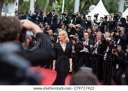 Actress Cate Blanchett attends the 'Sicario' premiere during the 68th annual Cannes Film Festival on May 19, 2015 in Cannes, France. - stock photo