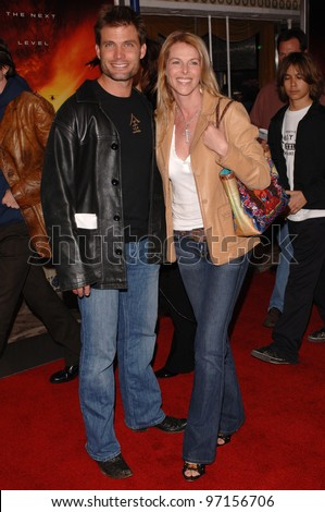 Actress CATHERINE OXENBERG & husband actor CASPER VAN DIEN at the Los Angeles premiere of XXX: State of the Union. April 25, 2005 Los Angeles, CA.  2005 Paul Smith / Featureflash