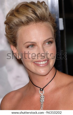 Actress CHARLIZE THERON at the Los Angeles premiere of her new movie North Country. October 10, 2005 Los Angeles, CA.  2005 Paul Smith / Featureflash - stock photo
